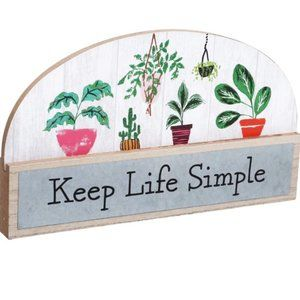 New Keep Life Simple Tabletop Plaque